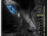 Logo-schwarze Katze